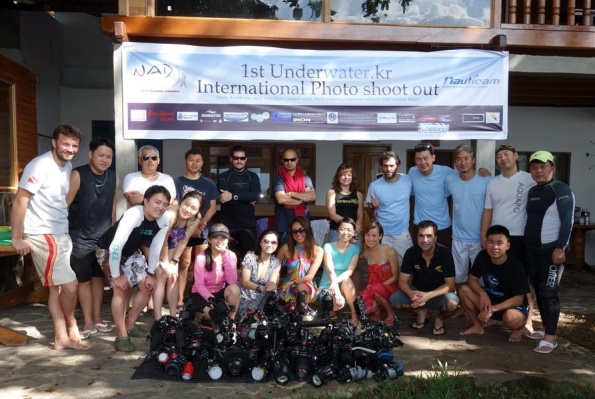 All contestants of the UW Photo Shoot Out at NAD Lembeh