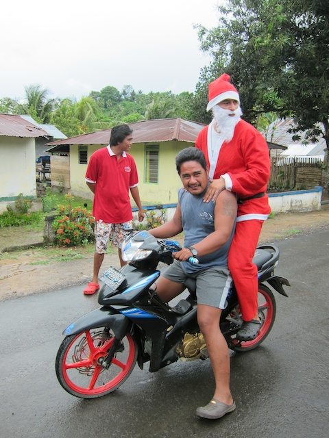Speedy Santa with Joubert.
